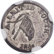 ½ Dime - Confederate (A United South) – obverse