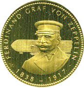 Token - Ferdinand Graf von Zeppelin – obverse