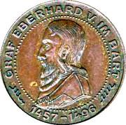 Token - Sparkasse (Graf Eberhard V. Im Bart) – reverse