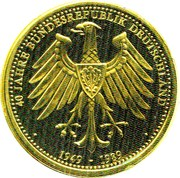 Token - 40 Jahre Bundesrepublik Deutschland (Introduction of the German Armed Forces) – reverse