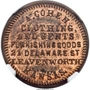 Token - A. Cohen Clothing (Leavenworth, KS) – obverse