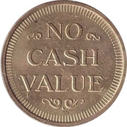 Token - No Cash Value (Shuttle) – reverse