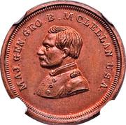 Major Gen. G.B. McClellan Civil War Patriotic – obverse