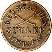 25 Cents - Civil War Sutler - Geo. McAlpen (11th PA Cav) – obverse