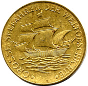 Token - Grosse Seefahrer der Weltgeschichte (Vasco de Gama) – reverse