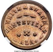Civil War Token - White and Swann (Huntsville, Alabama) – obverse