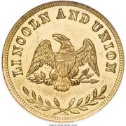 Civil War Patriotic - Lincoln and Union – reverse