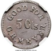 5 Cents - Civil WarToken - G.R. Meyer (Chicago IL) – obverse