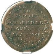 Civil War Merchant Token - Seth Smith & Son Family Grocerie – reverse