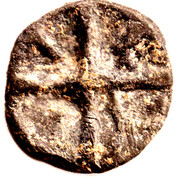 Uniface Lead Token with Cross – obverse