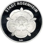 Rosenheim, 150 Jahre Stadt Rosenheim – obverse