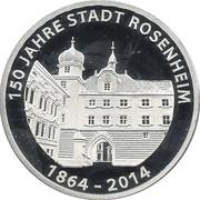 Rosenheim, 150 Jahre Stadt Rosenheim – reverse