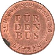 Bus Token - Schwäbisch Hall – reverse