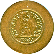 Token - Notgeld coinage of Aachen – obverse