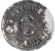6 Sammelmarken (Schwenningen A.N.; Private, Büdowerk) – reverse