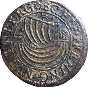 Counter Token (Ship and stars; Nüremberg) – obverse