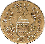 Beer Token - 2 Bier-Dorf Colon – obverse