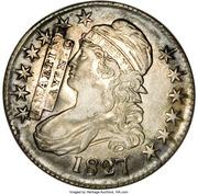 50 Cents - Hard Times (Bust Half Dollar Counterstamped J. Martine, Fayetteville N.C) – obverse