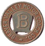 1 Zone Fare - Beaver Valley Motor Coach Co. – obverse