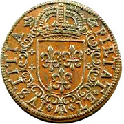 Rechen Pfennig with French Arms of Hans Krawinckel – obverse