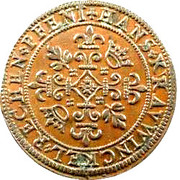 Rechen Pfennig with French Arms of Hans Krawinckel – reverse
