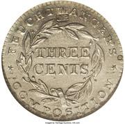 3 Cents - Hard Times Token - Feuchtwanger (Countermarked JMP) – reverse