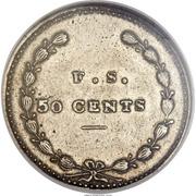 50 Cents - Hard Times Token - Feuchtwanger – reverse