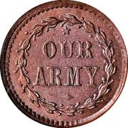 Civil War Token - Liberty Our Army – reverse