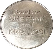 1 Fare - Detroit-Windsor Tunnel (50th Anniversary) – reverse