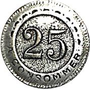 25 Centimes - Courson – reverse