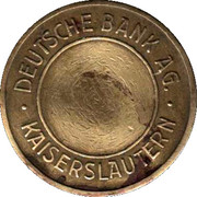 Token - Deutsche Bank AG. Kaiserslautern – obverse