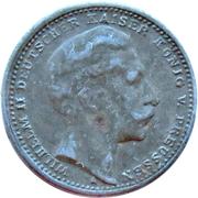 3 Mark (Wilhelm II, German Reich; Play Money) – obverse