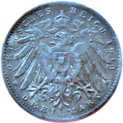 3 Mark (Wilhelm II, German Reich; Play Money) – reverse