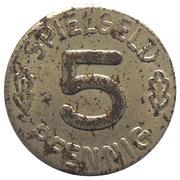 5 Pfennig (Spielgeld) – reverse