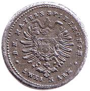 2 Mark (Friedrich III, German Reich; Play Money) – reverse