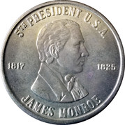 Token - James Monroe (The Last Cocked hat) – obverse