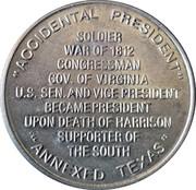 Token - John Tyler (10th President) – reverse