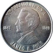 Token - James K. Polk (11th President) – obverse