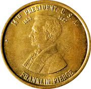 Token - Franklin Pierce (14th President) – obverse