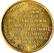 Token - Franklin Pierce (14th President) – reverse