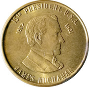 Token - James Buchanan (15th President) – obverse