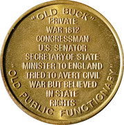 Token - James Buchanan (15th President) – reverse
