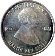 Token - Martin Van Buren (8th President) – obverse