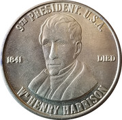 Token - William Henry Harrison (9th President) – obverse