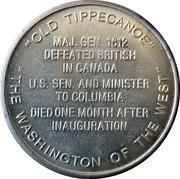 Token - William Henry Harrison (9th President) – reverse