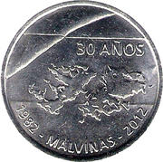 Token - 30th Anniversary of the South Atlantic War – obverse