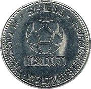 Shell Token - Fußball-WM 1970 Mexico (Gerd Müller) – reverse