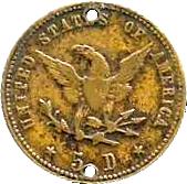 Token - 5 Pesos / 5 Dollars – reverse