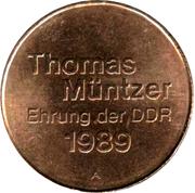 Token - Thomas Müntzer (Ehrung der DDR) – obverse