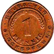 1 Pfennig - Heubacher Glückspfennig – reverse